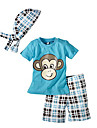 T-shirt / Shorts / Klädesset Pojke Sommar Bomull