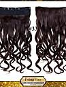 24inch 60cm 120g färg 33 # klämma in på hårförlängningar vågig klipp på löshår