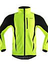 Arsuxeo® Veste de Cyclisme Homme Manches longues VeloRespirable Garder au chaud Pare-vent Design Anatomique Bandes Reflechissantes Poche