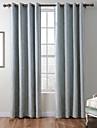 En panel Fönster Behandling Rustik Modern Medelhavet Barock Europeisk Designer , Rand Vardagsrum Polyester Material gardiner draperier