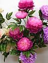 Une succursale Polyester Plastique Pivoines Fleur de Table Fleurs artificielles 125CM*15CM*15CM