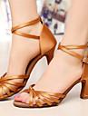 """Scarpe da ballo - Disponibile """"su misura"""" - Donna - Latinoamericano - Customized Heel - Satin / Eco-pelle -Nero / Marrone / Rosso /"""