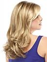 fashionabla syntetiska African American peruker långt vågigt hår peruk för kvinnor sexiga naturliga peruker med lugg sw0086