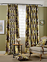 Deux Panneaux Rustique / Moderne / Neoclassique / Mediterraneen / Europeen Floral / Botanique Comme image Salle de sejour Polyester