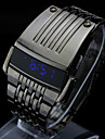 Men\'s LED Watch Display Steel Wristband Rectangle Dial Iron Man