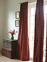 två paneler broderi panel burgundy sovrum gardiner draperier