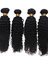 7a non transformes cheveux bresiliens vierges crepus boucles faisceaux 100% de cheveux humains armure bresilienne 4pcs