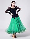 Vestidos(Fucsia / Verde / Royal Blue,Tul / Terciopelo / Fibra de Leche,Danza Moderna) -Danza Moderna- paraMujer
