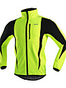 ARSUXEO Cycling Jacket / Fleece Jackets Men\'s BikeBreathable / Anatomic Design / Windproof / Back Pocket / Reflective Trim/Fluorescence /