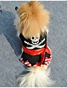 Dog / Cat Shirt / T-Shirt / Pants Black Spring/Fall Skulls Wedding / Cosplay