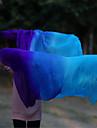 Belly Dance 100% Real Silk Veils High Quantlity Handmade Dancing Silk Fan Veils Purple/Blue/Turquoise WYV1003 265*114CM