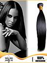 """4st / lot brasilianska jungfru hår rakt 8 """"-30"""" brasilianskt rakt jungfru hår människohår väft rakt hår väver"""
