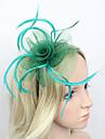Women\'s Feather/Net Headpiece - Wedding/Special Occasion Western Style Fascinators 1 Piece