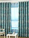 Två paneler Rustik / Modern / Nyklassisistisk / Medelhavet / Rokoko / Barock / Europeisk / Designer Blommig/Botanisk / Vinranka Blå / Rosa