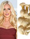 """3 pcs beaucoup 12 """"-30"""" blanchiment de platine 613 cheveux blonde vierge ondes de corps peruvien remy faisceaux de tissage de cheveux"""