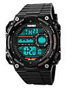 Da uomo Guarda Digitale Orologio sportivo LCD / Calendario / Cronografo / Resistente all\acqua / allarme / Orologio sportivo Gomma Banda