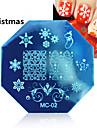 1st jul nail art stämpling bild mall plattor med stämpel