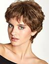 """la mode moelleux court ondule haut de monofilament de cheveux humains (1 """") de perruque capless naturel pour les femmes"""