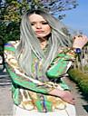 brasiliansk limfria ombre grå spets front peruk två tonar grå människohår fullt spetsar peruker