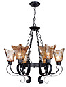 UMEI™ Chandeliers 6 Lights Glass Traditional/Classic / Vintage Living Room / Bedroom / Study Room