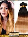 """1pcs / lot 10 """"-24"""" non transformes bresiliens vierges de grade cheveux 7a deux tons 1b / 27 ombre droite armure de cheveux humains"""