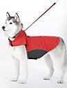 Hundar Kappor Väst Röd Blå Hundkläder Vinter Vår/Höst Enfärgat Vattentät Vindtät