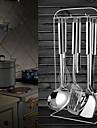durkslag av rostfritt stål kan hänga, sked, spatel, stekning spade, 4st en uppsättning