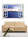 Arkitektur / Tecknat / Romantik / Fashion / Landskap / Former / fantasi / 3D Wall Stickers Väggstickers i 3D , PVC90cm x 60cm( 35in x