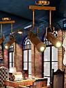 3W spår Ljus ,  Traditionell/Klassisk / Vintage / Kontor/företag / Rustik Rektangulär Särdrag for Flush Mount Lights Trä/BambuLiving Room