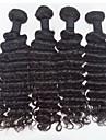 4st / lot rå eurasian virgin hår djup våg mänskliga hårförlängningar naturligt svart curl hår 8 \'\' - 30 \'\' hår väver