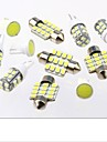 Xenon White 11PC LED Lights Interior Package T10 & 31mm Map Dome + License Plate