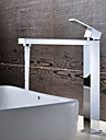 Contemporain Set de centre Cascade with  Valve en ceramique Mitigeur un trou for  Chrome , Robinet lavabo