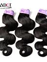 """3 st hel 12 """"-30"""" peruanska förkroppsligar vinkar jungfru hårwefts naturligt svart 1b # remy människohår väv vågiga buntar härva gratis"""