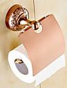 Suport Hârtie Toaletă / Gadget Baie , Neoclasic Aur Roze Montat pe Perete