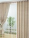 Två paneler Fönster Behandling Europeisk Dining Room Linne/Bomull blend Material Sheer gardiner Shades Hem-dekoration For Fönster