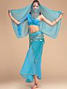 Belly Dance Outfits Women\'s Performance Chiffon / Chinlon Sequins 5 Pieces 6 Colors