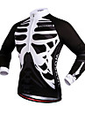 WOSAWE Maillot de Cyclisme Unisexe Velo Maillot Hauts/Tops Pare-vent Bandes Reflechissantes Poche arriere 100 % Polyester CranesCamping /