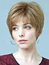 """ultracourtes droite superieure humaine vierge de monofilament de cheveux remy (1 """") femme capless perruque"""