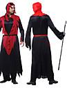Costume Cosplay / Costume petrecere Înger & Demon Festival/Sărbătoare Costume de Halloween Roșu & negru Peteci Rochie Halloween Bărbătesc