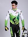 KEIYUEM® Cykeltröja och tights Herr Lång ärm CykelVattentät / Andningsfunktion / Snabb tork / Vindtät / Isolerad / Regnsäker / Damm säker