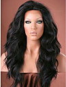 Wholesale 130% Density Natural Black Hair Body Wave Indian Remy Hair Full Lace Wig With Natural Hairline