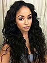 non transformes cheveux ondules naturel Lace Front perruques de cheveux humains