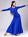 Vestidos(Negro / Azul / Verde / Rojo,Tul / Viscosa,Danza Moderna) -Danza Moderna- paraMujer Encaje / Arrugas / LentejuelasRepresentacion