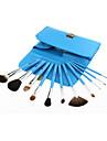 11Set di pennelli / Pennello per cipria / Pennello per ombretto / Pennello per labbra / Pennello sopracciglia / Pennello applicatore per