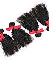 peruanska lockigt hår väva förlängningar virgin människohår 4st buntar 7a kinky lockigt hår naturliga färg 100g / st