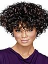 Nyanländ europeiska lady kvinnor kort curl syntheic våg peruker