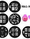Abstrakt - Finger / Tå - Andra Dekorationer - av Metall - 20pcs nail plates+ 1set nail stamper and scraper - styck 5.5cm for dia - cm