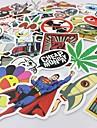 100 st / pack slumpmässig musik film vinyl skateboard gitarr resefodral sticker bil dekal söta klistermärken