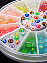 500PCS 12 Colour Jelly drill Nail Jewelry Decoration 3mm