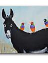 Peint a la main AnimalModern Un Panneau Toile Peinture a l\'huile Hang-peint For Decoration d\'interieur